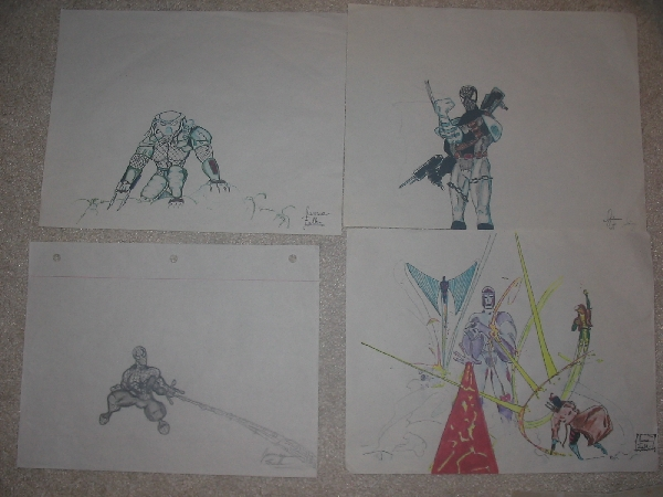 Some of his better art that I kept for 15 years or so