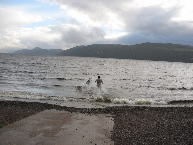 Scotland: Me going head first into the loch Drive by shooting (Im on the left)