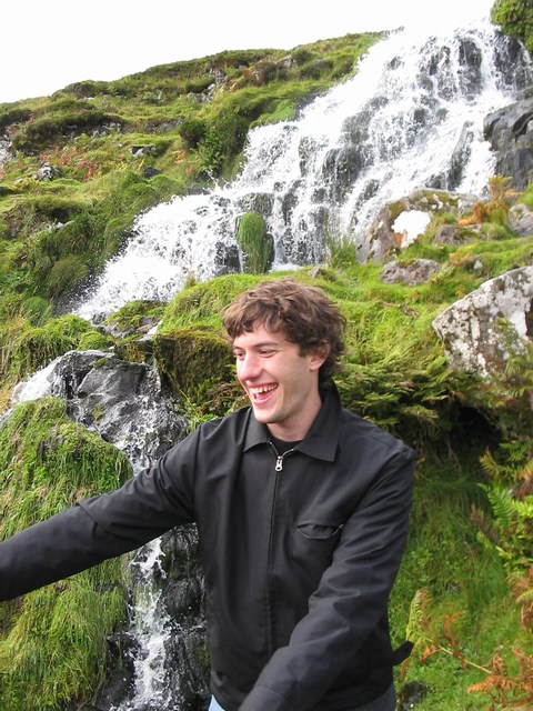 Scotland: In front of the Waterfall