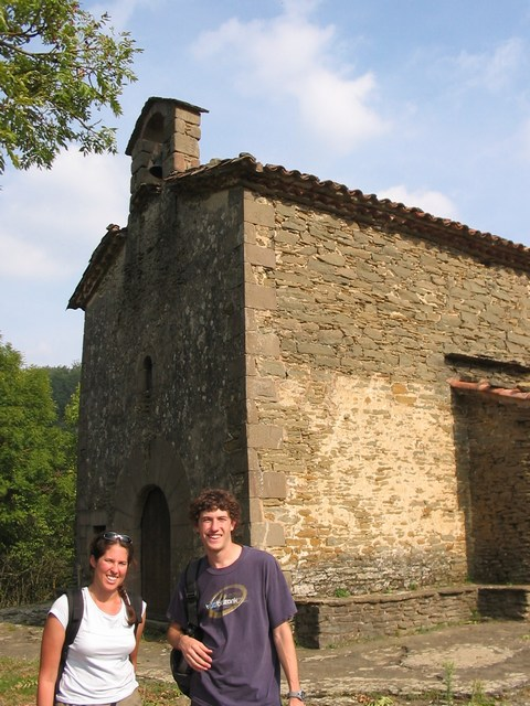Spain: In front of a church after the hike