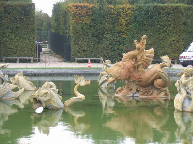 France: One of the many fountain ponds