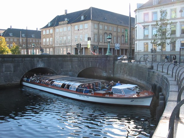 Denmark: A boat that we thought would hit the wall because it was so big
