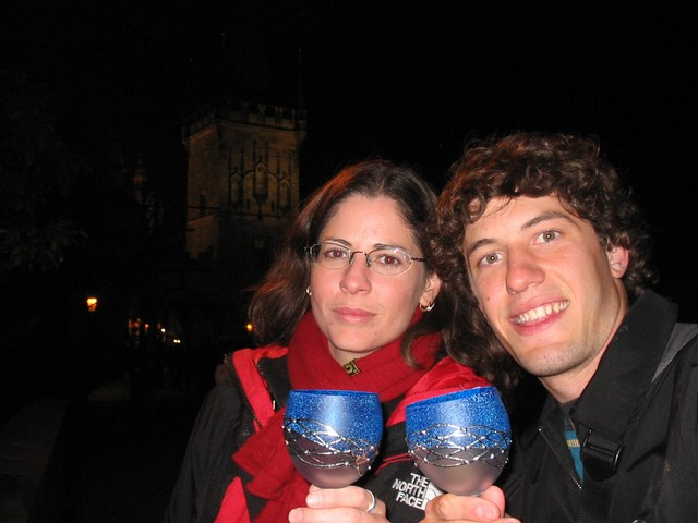Czech Replublic: Us with our wine glasses goofing off