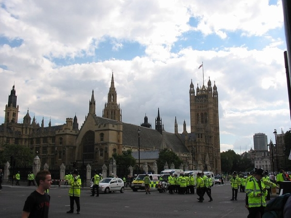 Westminster Abbey with the cops