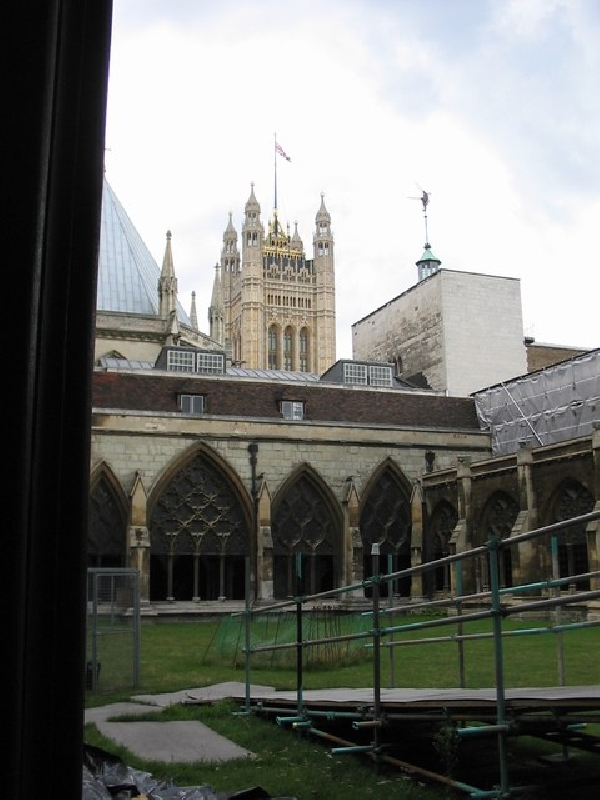 Inside Westminster 2 (I hand sketched some parts of the building in my journal and sat here for a while)