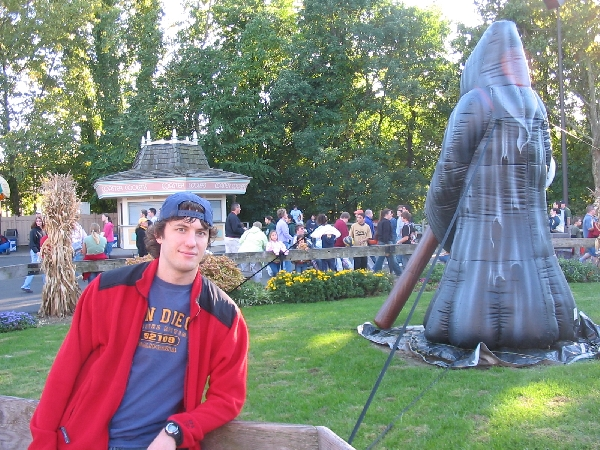 Chilling in front of a Grim Reaper