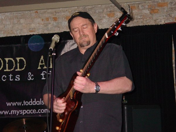 Jim Rawlings rockin out on guitar