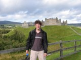 Scotland: The Castle (With my messed up hair)