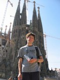 Spain: Me in front of the Sagrada Familia