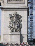 France: Part of the Arc de Triumph