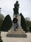France: A great photo of me and 'the thinker'