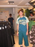 The Netherlands: Me in some capris... they look gay... but I bought the 3 Euro tshirt