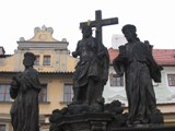 Czech Replublic: Some statues of Jesus on The Main Bridge