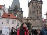 Czech Replublic: Sarah on the Bridge