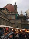 Italy: Florence... the famous church and the shopping in front of it