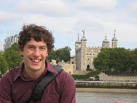 Messed up hair in front of the London Tower