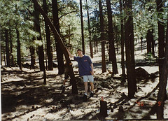 Dan in the woods