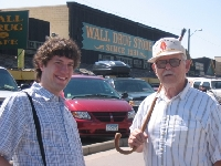 Grandpa and I at Wall Drugs South Dakota