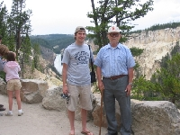 Grandpa and I overlooking this amazing Yellow Canyon