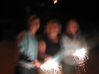 The Girls and the Sparklers (I snuck in fireworks across the border)