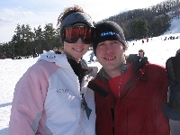 Susan and I on the slopes