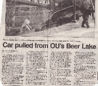 News Article About Car in Beer Lake