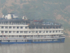 Yangtze River - This boat caught on fire.  We were lucky nothing bad happened to us too.