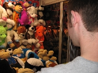 Jason getting a stuffed animal