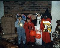 Kevin as Bugs Bunny, Dave as the Devil, Dan as Gizmo and Noel as Orko